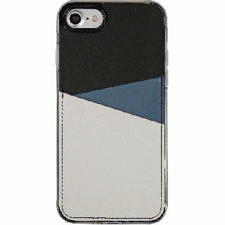 背面カードポケットケース @hand スラッシュ ネイビー iPhone 7