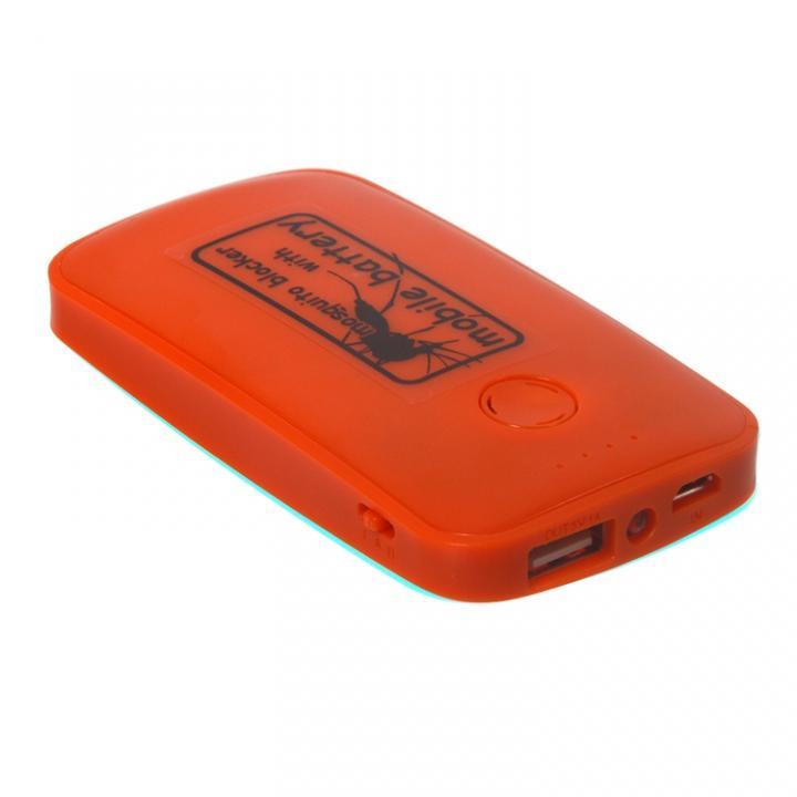 [3600mAh]蚊よけ付きモバイルバッテリー オレンジ_0