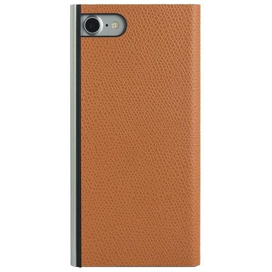 iPhone8/7 ケース パワーサポート 本牛革型押し手帳型ケース オレンジ iPhone 8/7_0