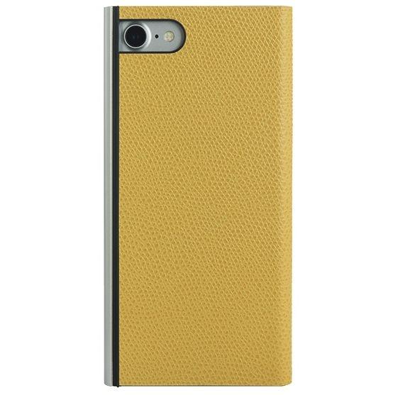 パワーサポート 本牛革型押し手帳型ケース イエロー iPhone 7