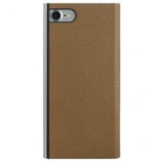 パワーサポート 本牛革型押し手帳型ケース キャメル iPhone 7
