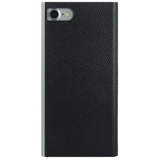 パワーサポート 本牛革型押し手帳型ケース ブラック iPhone 7