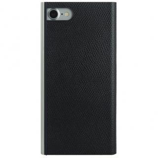 パワーサポート 本牛革型押し手帳型ケース ブラック iPhone 7【6月上旬】
