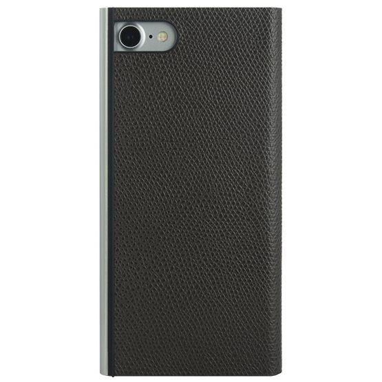 iPhone8/7 ケース パワーサポート 本牛革型押し手帳型ケース チョコ iPhone 8/7_0