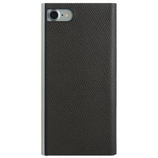 iPhone8/7 ケース パワーサポート 本牛革型押し手帳型ケース チョコ iPhone 8/7