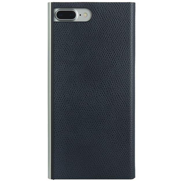 【iPhone8 Plus/7 Plusケース】パワーサポート 本牛革型押し手帳型ケース ネイビー iPhone 8 Plus/7 Plus_0