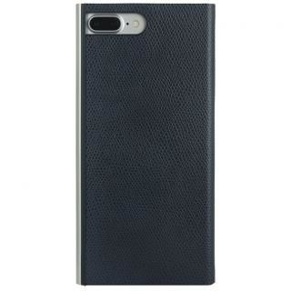 【iPhone8 Plus/7 Plusケース】パワーサポート 本牛革型押し手帳型ケース ネイビー iPhone 8 Plus/7 Plus