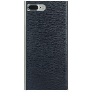 パワーサポート 本牛革型押し手帳型ケース ネイビー iPhone 8 Plus/7 Plus