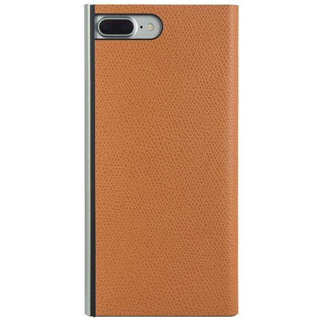 iPhone8 Plus/7 Plus ケース パワーサポート 本牛革型押し手帳型ケース オレンジ iPhone 8 Plus/7 Plus_0