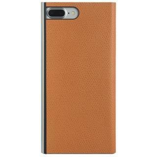 パワーサポート 本牛革型押し手帳型ケース オレンジ iPhone 7 Plus