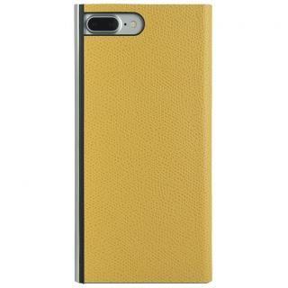 パワーサポート 本牛革型押し手帳型ケース イエロー iPhone 7 Plus