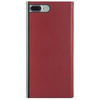 パワーサポート 本牛革型押し手帳型ケース レッド iPhone 8 Plus/7 Plus