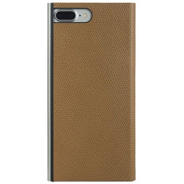 iPhone8 Plus/7 Plus ケース パワーサポート 本牛革型押し手帳型ケース キャメル iPhone 8 Plus/7 Plus_0