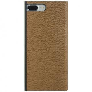 パワーサポート 本牛革型押し手帳型ケース キャメル iPhone 7 Plus【6月上旬】