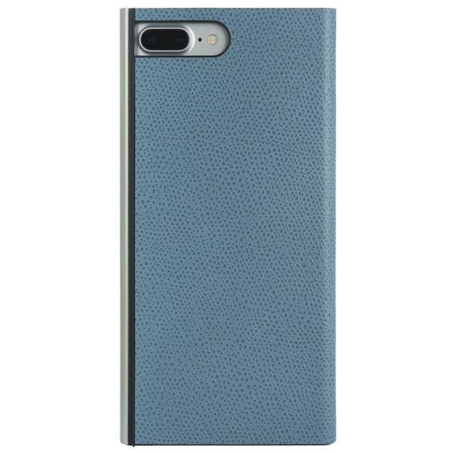 【iPhone8 Plus/7 Plusケース】パワーサポート 本牛革型押し手帳型ケース スカイ iPhone 8 Plus/7 Plus_0