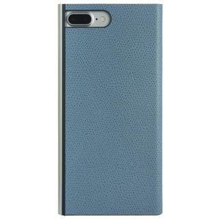 パワーサポート 本牛革型押し手帳型ケース スカイ iPhone 7 Plus