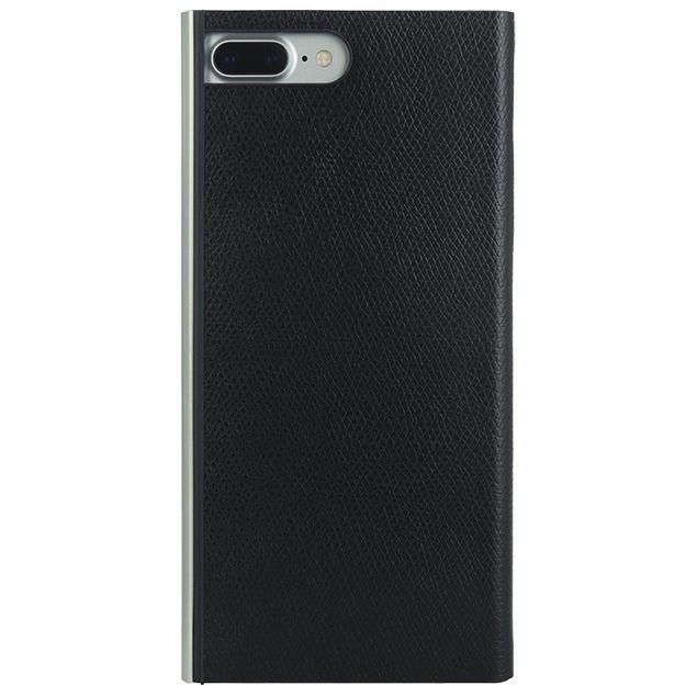 【iPhone8 Plus/7 Plusケース】パワーサポート 本牛革型押し手帳型ケース ブラック iPhone 8 Plus/7 Plus_0