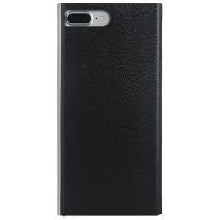 【iPhone8 Plus/7 Plusケース】パワーサポート 本牛革型押し手帳型ケース ブラック iPhone 8 Plus/7 Plus