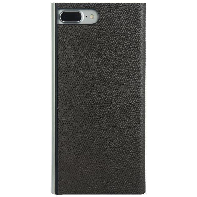 iPhone8 Plus/7 Plus ケース パワーサポート 本牛革型押し手帳型ケース チョコ iPhone 8 Plus/7 Plus_0