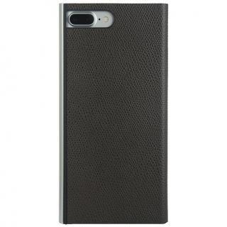 パワーサポート 本牛革型押し手帳型ケース チョコ iPhone 8 Plus/7 Plus