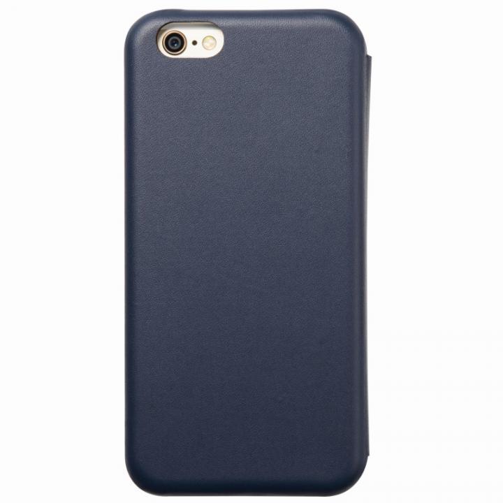 【iPhone6s/6ケース】クリスタルアーマー 手帳型クラムシェルケース マット ネイビー iPhone 6s/6_0