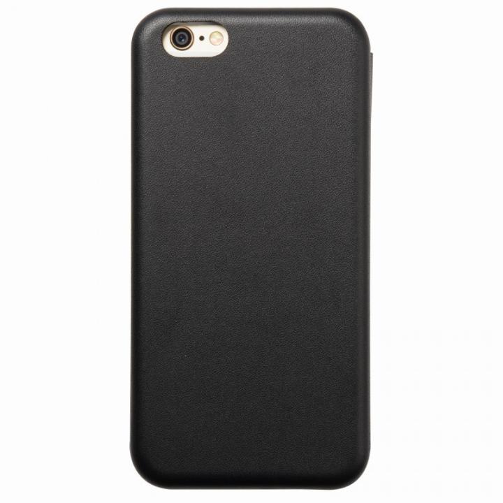 【iPhone6s/6ケース】クリスタルアーマー 手帳型クラムシェルケース マット ブラック iPhone 6s/6_0