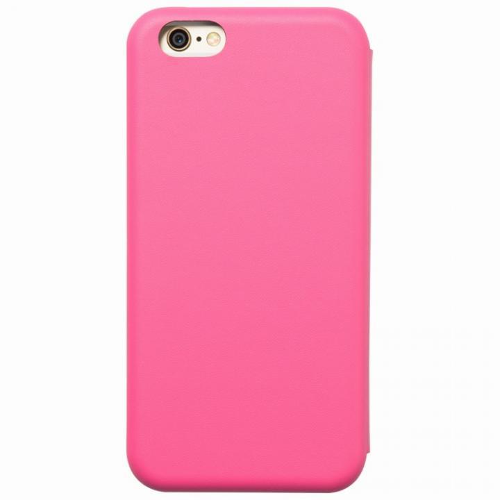 クリスタルアーマー 手帳型クラムシェルケース マット ピンク iPhone 6