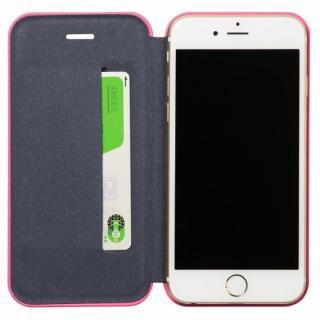 【iPhone6ケース】クリスタルアーマー 手帳型クラムシェルケース マット ピンク iPhone 6_4