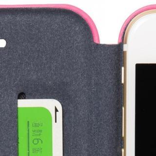 【iPhone6ケース】クリスタルアーマー 手帳型クラムシェルケース マット ピンク iPhone 6_7