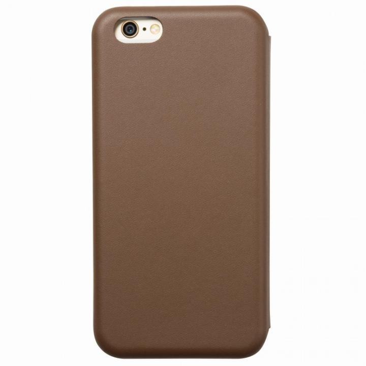 クリスタルアーマー 手帳型クラムシェルケース マット ブラウン iPhone 6