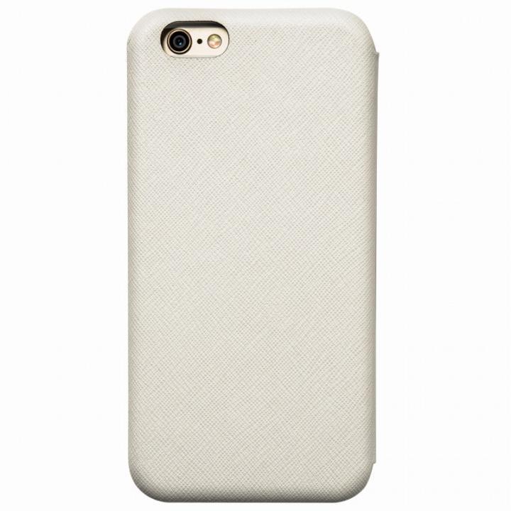 クリスタルアーマー 手帳型クラムシェルケース ザラ ホワイト iPhone 6
