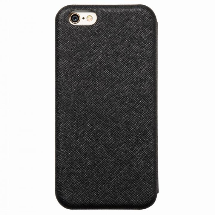 クリスタルアーマー 手帳型クラムシェルケース ザラ ブラック iPhone 6