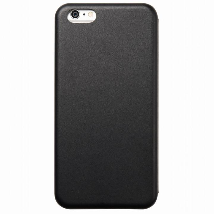 クリスタルアーマー 手帳型クラムシェルケース マット ブラック iPhone 6 Plus