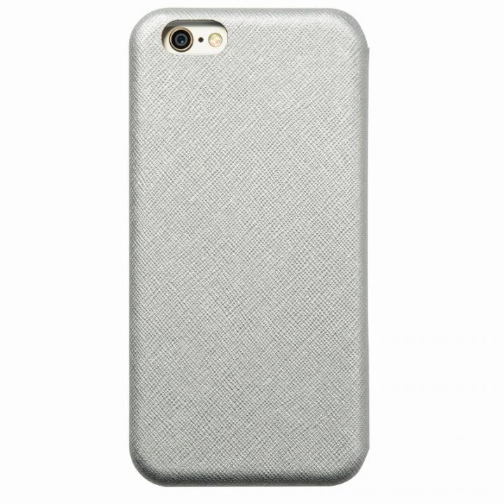 【iPhone6ケース】クリスタルアーマー 手帳型クラムシェルケース ザラ シルバー iPhone 6_0
