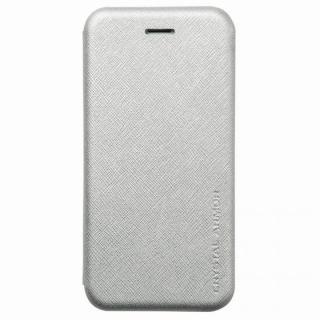【iPhone6ケース】クリスタルアーマー 手帳型クラムシェルケース ザラ シルバー iPhone 6_1