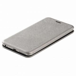 【iPhone6ケース】クリスタルアーマー 手帳型クラムシェルケース ザラ シルバー iPhone 6_2
