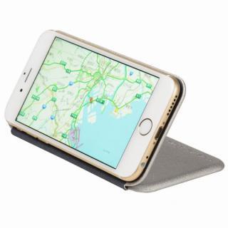 【iPhone6ケース】クリスタルアーマー 手帳型クラムシェルケース ザラ シルバー iPhone 6_3