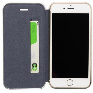 【iPhone6ケース】クリスタルアーマー 手帳型クラムシェルケース ザラ シルバー iPhone 6_4