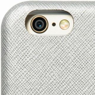 【iPhone6ケース】クリスタルアーマー 手帳型クラムシェルケース ザラ シルバー iPhone 6_6