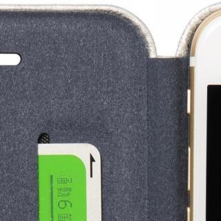 【iPhone6ケース】クリスタルアーマー 手帳型クラムシェルケース ザラ シルバー iPhone 6_7