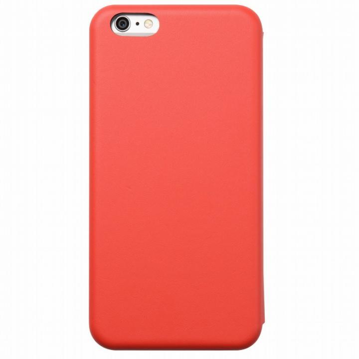 iPhone6 Plus ケース クリスタルアーマー 手帳型クラムシェルケース マット レッド iPhone 6 Plus_0