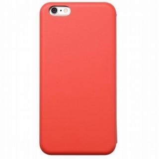 クリスタルアーマー 手帳型クラムシェルケース マット レッド iPhone 6 Plus