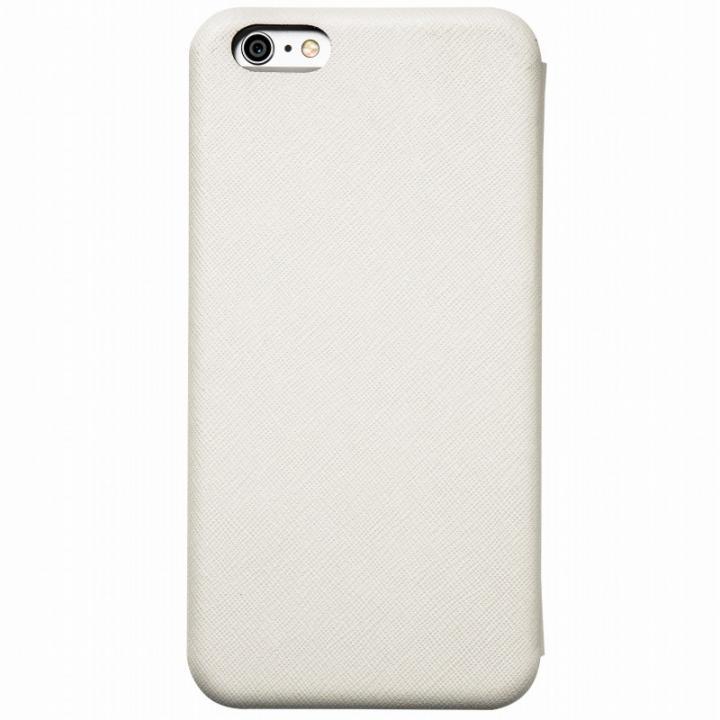 iPhone6s Plus/6 Plus ケース クリスタルアーマー 手帳型クラムシェルケース ザラ ホワイト iPhone 6s Plus/6 Plus_0