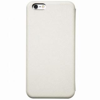 クリスタルアーマー 手帳型クラムシェルケース ザラ ホワイト iPhone 6s Plus/6 Plus