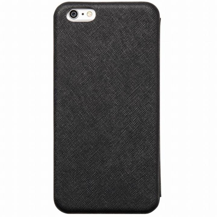iPhone6 Plus ケース クリスタルアーマー 手帳型クラムシェルケース ザラ ブラック iPhone 6 Plus_0