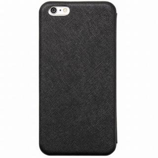 クリスタルアーマー 手帳型クラムシェルケース ザラ ブラック iPhone 6 Plus