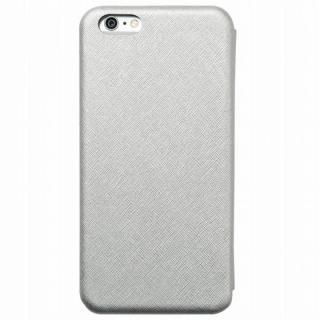 クリスタルアーマー 手帳型クラムシェルケース ザラ シルバー iPhone 6 Plus