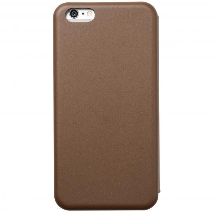 iPhone6 Plus ケース クリスタルアーマー 手帳型クラムシェルケース マット ブラウン iPhone 6 Plus_0