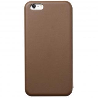 クリスタルアーマー 手帳型クラムシェルケース マット ブラウン iPhone 6 Plus