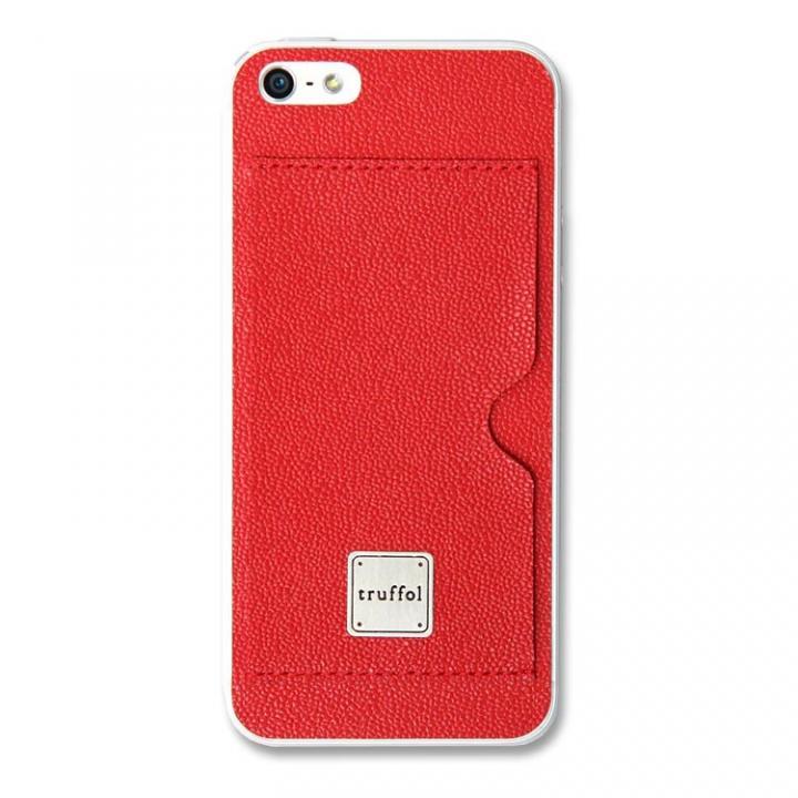 iPhone SE/5s/5 ケース 上質なイタリアンレザー使用 スキンシール Autograph レッド(スロット) iPhone SE/5s/5_0